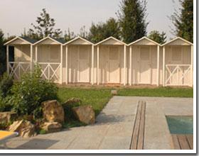 cabine legno per spiaggia e piscine