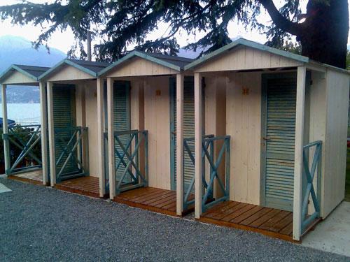 Cabine legno per spiaggia e piazzali stabilimenti balneari - Cabine in legno ...