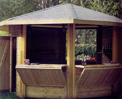 Chioschi e cabine in legno casette prefabbricate e for Gazebi usati in legno